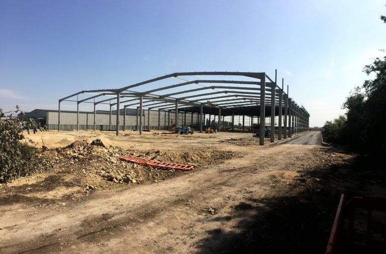 Complete steel frame