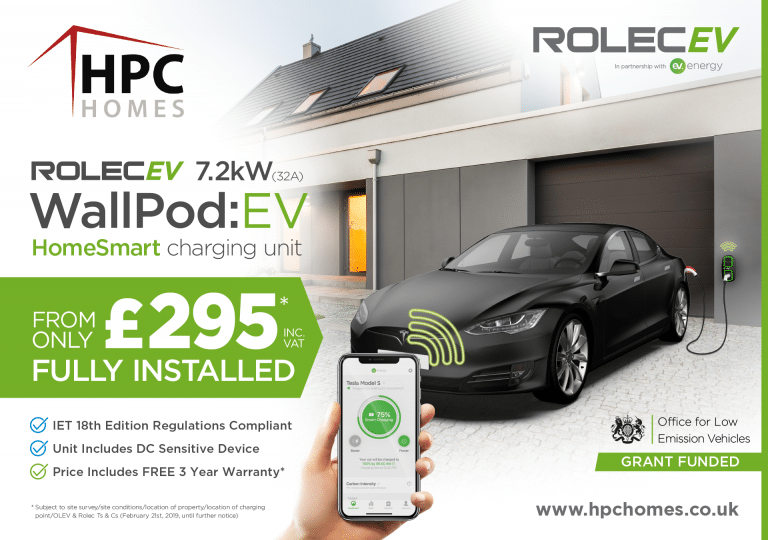 HPC Homes - OLEV HomeSmart Charge Point £295 IET 18th Edition - Social Media Graphic_Artboard 1