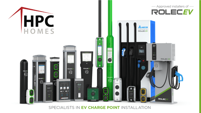 HPC Homes - Rolec Charge Point Approved Installer - Social Media Graphic_Artboard 1